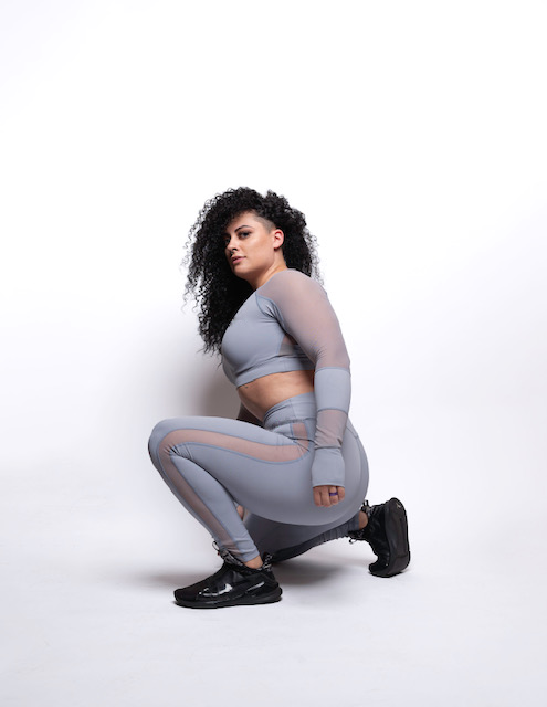 Woman in Grey Tracksuit